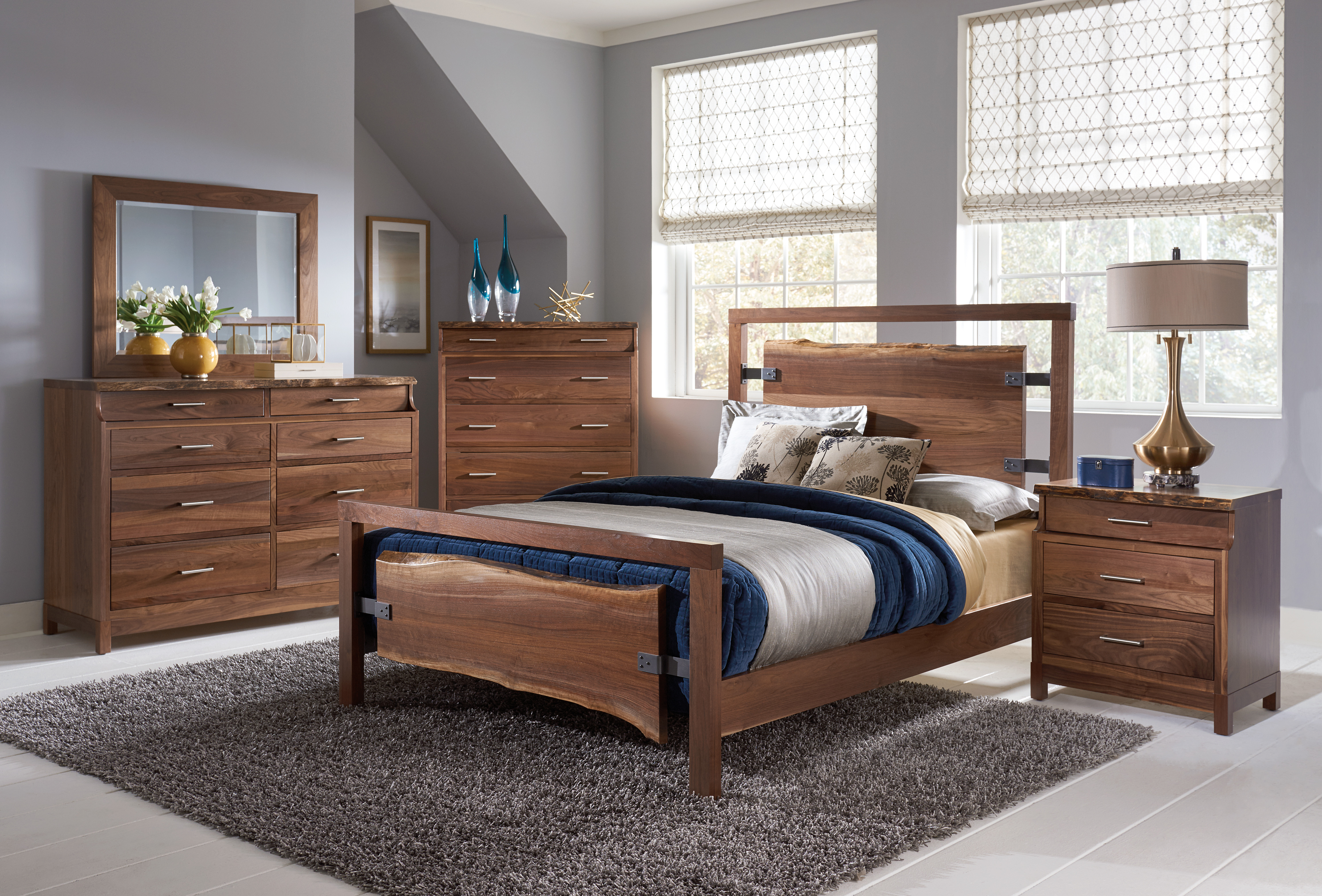 Westmere Bedroom Collection shown in Walnut with a Natural Finish at Mattie Lu